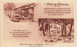 MONTFAUCON-du-VELAY :Alt 930m. L'Hôtel Des Platanes - Montfaucon En Velay