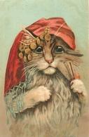 CHATS - CAT - HUMANISE - Très Jolie Carte Fantaisie Chat - CHAT à L'EVENTAIL - DISEUSE DE BONNE - ILLUSTRATEUR BOULANGER - Chats