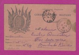 CARTE FRANCHISE MILITAIRE Obl TRESOR ET POSTE 172 Pour FOS SUR MER - Poststempel (Briefe)