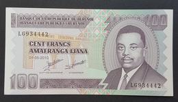 RS - Burundi 100 Francs Banknote 2010 #LG934442 - Burundi