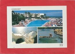HAMMAMET  -  MULTIVUES . HOTEL BEL AZUR  . CARTE NON ECRITE - Tunisie