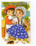Carte Brodée Au Pays Des Oliviers Illustration Elsi - Embroidered