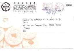TAIWAN / Enveloppe Illustrée Monnaie Chinoise / Chambre De Commerce / Voyagée Par Avion  2002 - Covers & Documents