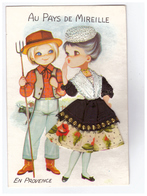Carte Brodée Au Pays De Mireille Editions Vacances CPM - Embroidered