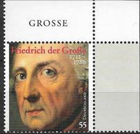 2012 Deutschland  Allem. Fed. Mi 2906 **MNH EOR Friedrich Der Große - [7] République Fédérale