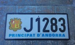 BELLE PLAQUE IMMATRICULATION ANDORRE ANDORRA LICENSE PLATE !!! - Plaques D'immatriculation