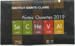 étiquette Décollée Bière Institut Sainte-Claire Portes Ouvertes 2019 Brasserie? - Bière