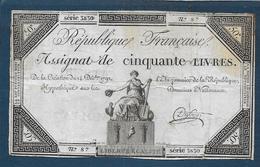 Assignat De Cinquante Livres  Du 14 Déc 1792 - Assignats