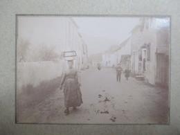"""BEARN ?  3 Photographies Anciennes Fin XIX ème - Femme Avec """" Herrade """" Sur La Tête - Village à Identifier - BE - Lieux"""