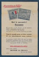Tract Anti Juif Illustré Par Billet 5 Fr Drapeau ( Scan Recto Verso ) - Ohne Zuordnung
