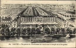 Cp Nantes Loire Atlantique, Vue Generale De L'Etablissement Des Sourds Muets - Francia