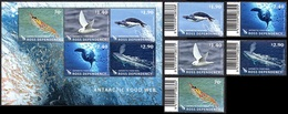 ROSS New-Zealand 140/44 Et Bf 006  Faune Marine , Baleine , Crevette , Oiseau , Pingouin - Antarctic Wildlife