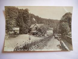 PHOTO ALBUMINE DEB 20 EME BAGNOLES DE L ORNE PAVILLON GOUDONNIERE ENTREE DE LA PISCINE Format 12 / 18.5 CMS PAPIER MINCE - Old (before 1900)