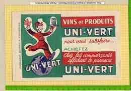 BUVARD : Vins Et Produits UNI VERT - Liquor & Beer