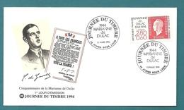 Aisne - ANIZY - JOURNEE DU TIMBRE 1994 // General De Gaulle - Commemorative Postmarks