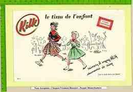 BUVARD : Tissus KILK  Gagne Le Premier Prix De Cornemuse N°4 Signé P.Bubbe - Textile & Clothing