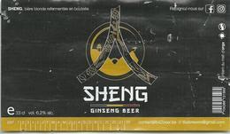 étiquette Décollée Bière Sheng Brasserie ? - Bière