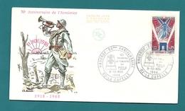 Aisne - LA CAPELLE - HAUDROY - 50e Anniversaire. Theme : WW1 /Guerre 1914-1918 / Poilus. 1968 - Commemorative Postmarks