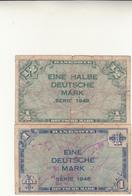 Germania, Banknote  1/2 + 1  Eine Halbe Deutsche Mark  1948 - [ 5] 1945-1949 : Bezetting Door De Geallieerden