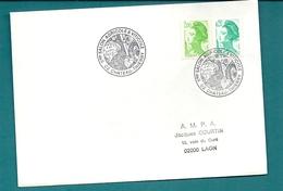 Aisne - CHATEAU THIERRY. 5e Salon Agricole Et Viticole. 1987. Thème : VIN - Commemorative Postmarks