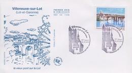 Enveloppe  FDC  1er  Jour   FRANCE   VILLENEUVE  SUR  LOT    2010 - 2010-....