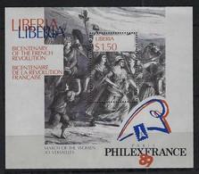BICENTENAIRE DE LA REVOLUTION FRANCAISE 1789-1989:  Bloc Du Libéria  Neuf**  TTB - Franz. Revolution