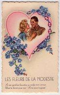 Carte Postale Ancienne - Germaine BOURET - Les Fleurs De La Modestie - Bouret, Germaine