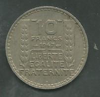 10 Francs 1947 - Turin Petite Tête Rameaux Courts - France