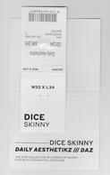 Clothing Label-kledinglabel-etiquette-etikett DAZ Daily Aesthestikz Dice Skinny - Habits & Linge D'époque