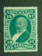 Esperanto Cinderella Vignette Poster Stamp Zamenhof 40 Jara Year Jubileo Jubileum Jubilé - Esperanto