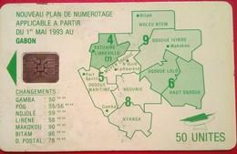 Gabon 50 Units Map - Gabun