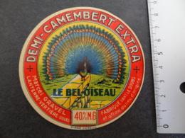 Etiquette De Demi Camembert Le Bel Oiseau Gravel à Lantenne Vertière Doubs - Cheese