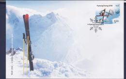 Croatia FDC 2018 PyeongChang Olympic Games (LA19) - Winter 2018: Pyeongchang