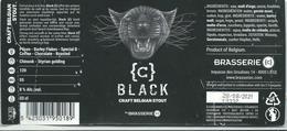 étiquette Décollée Bière Black Brasserie C Liège - Bière