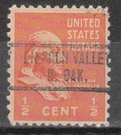 USA Precancel Vorausentwertung Preo, Locals North Dakota, Lincoln Valley 734 - United States