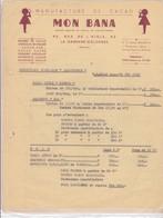 92-Mon Bana..Manufacture De Cacao..La Garenne-Colombes...(Hauts-de-Seine).. - Alimentaire