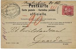 "1881, Karte  "" Officielle "", Frankiert,nur Nachnahme Frankiert ! R !! , A3874 - 1862-1881 Helvetia Sentada (dentados)"