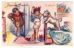Petite Carte Postale Ancienne - Germaine BOURET - MD - Bonne Année - Série N°345 - Bouret, Germaine