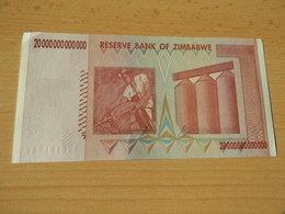 ZIMBABWE  20 Trilllionen Dollars  2008 Unc - Zimbabwe