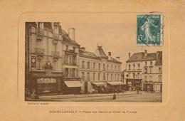 CHATELLERAULT  Place Des Halles Et Hôtel De France - Chatellerault