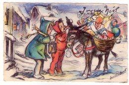 Petite Carte Postale Ancienne - Germaine BOURET - MD - Joyeux Noël - Série N°346 - Bouret, Germaine