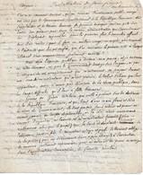 Discours D'installation Du 1er Sous-préfet De Coulommiers En 1801 - Historical Documents
