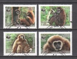 Laos 2008 Mi 2062-2065A WWF - GIBBONS - W.W.F.