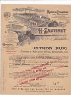 92-H.Sauvinet..Matières Premières Pour Distillateurs, Liquoristes..Malakoff..(Hauts De-Seine) - Frankreich
