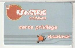 CINÉCARTE - CARTE CINÉMA - L'ORANGERIE - Movie Cards