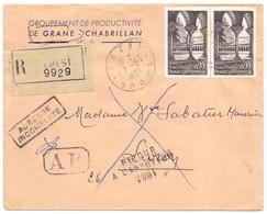 France Lettre Recommandée Avec AR De Crest Drome Pour Livron Retour A L Envoyeur 2061 Moissac - 1961-....