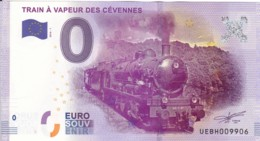 FRANCE - Billet Touristique 0 €uro 2016 / TRAIN A VAPEUR DES CEVENNES . - Essais Privés / Non-officiels