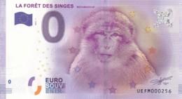 FRANCE - Billet Touristique 0 €uro 2016 / LA FORÊT DES SINGES. - Essais Privés / Non-officiels