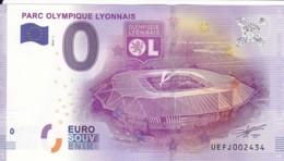 FRANCE - Billet Touristique 0 €uro 2016 / PARC OLYMPIQUE LYONNAIS. - Essais Privés / Non-officiels