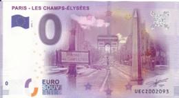 FRANCE - Billet Touristique 0 €uro 2016 / PARIS - LES CHAMPS-ELYSEES . - Essais Privés / Non-officiels